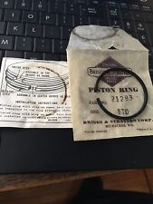 Vintage New Old Stock 21283 Compression Piston Ring Briggs Clinton Gas Engine