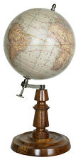 Authentic Models GL055 Classic Globe Chicago 1887  Wood Bronze and Brass