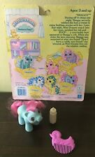 VTG MY LITTLE PONY Newborn Pony BABY SHAGGY with Back Card Duck Comb & Bottle