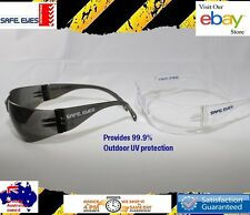 24x pairs = 12x Clear lens + 12x Smoke lens Safe Eyes  Safety Glasses