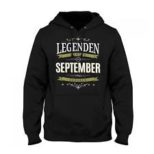 Legenden September Herren Kapuzen Pullover Fun Hoodie Geburtstag Geschenk Idee