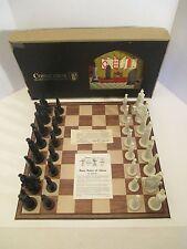 Vintage 1962 Conqueror Sculptured Goth Chess Set By Peter Ganine COMPLETE