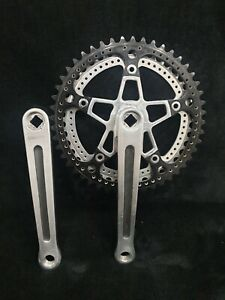 STRONGLIGHT 93 double crankset 175mm 48/42 teeth, french thread