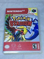 Pokemon Stadium 2 Custom N64 Nintendo 64 Case Only (No Game included)