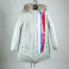 PyeongChang 2018 Olympic Russian Team Women's Parka Jacket Fur Hooded  Gray M L