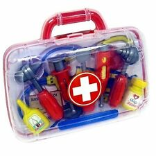 Childs Kids Doctor Nurse Carry Case Medical Kit Play Set Dress Up Role Toy Gift