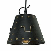 Mini Metal Rivets Industrial Pendant Light, Hanging Light Fixture NEW in BOX