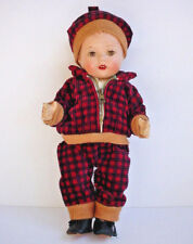 All Original Old Composition Boy Doll With Box