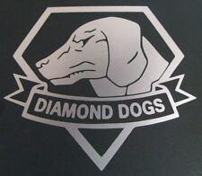 Metal Gear Solid V - 'Diamond Dogs' Vinyl Sticker SILVER GLOSS