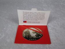 Metal Bookmark Chu Ming Tai-Chi Sculpture Taiwan Republic of China 3x 2-1/8 inch