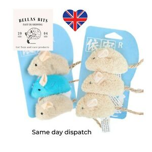 3pc Catnip Mice Pet Cat Toy Gift Chew Crazy Grinding Play Toys Teeth Scratch