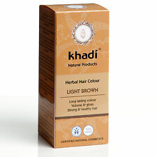 KHADI HERBAL HAIR COLOUR - LIGHT BROWN LONG LASTING COLOUR CERTIFIED PRODUCT