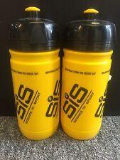 2 x Science in Sport SIS Elite Corsa Giallo/Nero 550ml Bottiglie