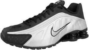 Original Unisex Men Women Nike Shox R4 Trainers Black Silver 104265 045