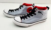 Converse Men's Chuck Taylor All Star Street Mid Casual Gray/Black Sneakers sz6