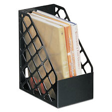 UNIVERSAL Recycled Plastic Large Magazine File 6 1/4 x 9 1/2 x 11 3/4 Black