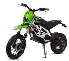 Moto electrica potente motocross cross bateria 1000w 36v infantil verde blanca