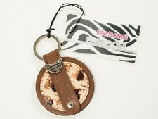 New Roberto Cavalli Freedom Collection Leather Key Chain