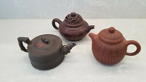 COLLECTION OF (3) ORIENTAL CHINESE TEAPOTS