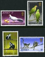 JERSEY 1971 WILDLIFE PRESERVATION TRUST SET OF ALL 4 COMMEMORATIVE STAMPS MNH