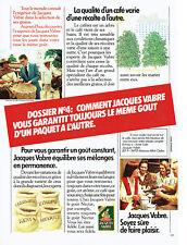 Publicité Advertising 117  1982   café Jacques Vabre en grains