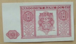 Poland banknote 1 zloty dated 1946