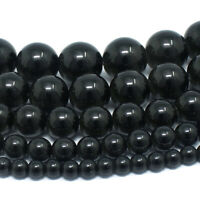 "Shungite Beads Gemstone Round Loose 4mm 6mm 8mm 10mm 12mm 15.5"" Full Strand"