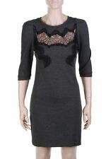 sandro PARIS Kleid mit Spitze 3 = D 40 anthrazit