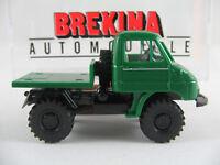 Brekina 39005 Unimog 411 mit Arbeitsplattform (1956) in grün 1:87/H0 NEU/OVP