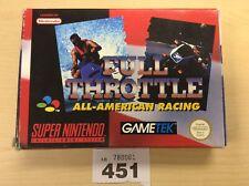 Super Nintendo Snes Full Throttle All American Racing