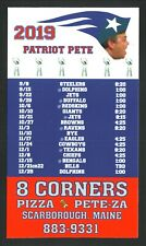 New England Patriots--2019 Magnet Schedule