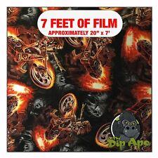 Hydrographic Film Hell Rider Skulls Hydro Dipping 7 X 20 Hydro Dip