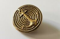 Vintage Navy Rope Anchor Gold Tone Button