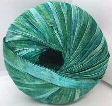 Memento - Berlini Ribbon Yarn #131 Green Tourmaline - Greens 50gr 88yds 3/8
