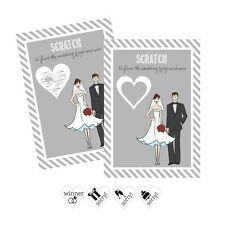 Bride and Groom Scratch Off Game Cards Wedding Bridal Shower Party Activity