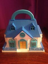 Vintage Blue-Box Carry Along Country School House