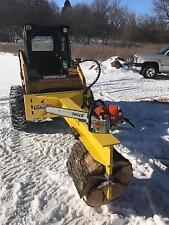 Wolfe Ridge Heavy Duty inverted skidsteer log splitter adjustable 4 way wedge
