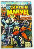 Marvel CAPTAIN MARVEL (1974) #33 Key THANOS Cover Jim STARLIN FR/GD Ships FREE!