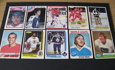 NHL HOCKEY CARD LOT OF 10 ASSORTED CARDS 70's  80's & 90's