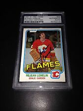 Rejean Lemelin Signed 1981-82 O-Pee-Chee OPC Rookie Card PSA Slabbed #83702719