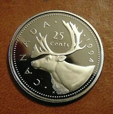 1994 CANADA quarter dollar twenty five 25 cents cent piece coin frosted Proof