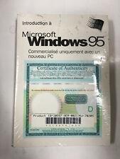 NEW Microsoft Windows 95 French Genuine