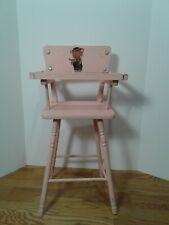 "Vintage Doll Size High Chair Cass Toys Pink Teddy Bear 22"" Tall 1960's"