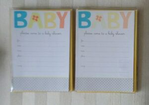 Lot of TWO CARLTON Baby Shower INVITATIONS Total SIXTEEN New In Package