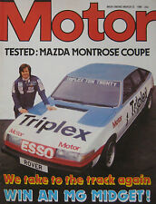 Motor magazine 22/3/1980 featuring Mazda Montrose TWR Coupe road test, Rover SD1