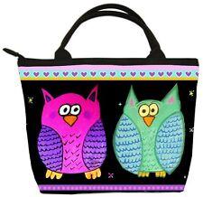 Whimsical Owls Handbag- Small Purse -From my Original Painting