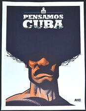 """10 Original Cuban Posters""""PENSANDO CUBA PORTFOLIO""""Only 40 made.SIGNED!Very rare!"""
