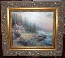 THOMAS KINKADE Pine Cove Cottage Custom Ornate Framed Ltd Edition Canvas Print!