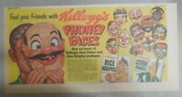 Kellogg's Cereal Ad: Phoney Faces Masks Premium! From 1952 Size: 7.5 x 15 inches