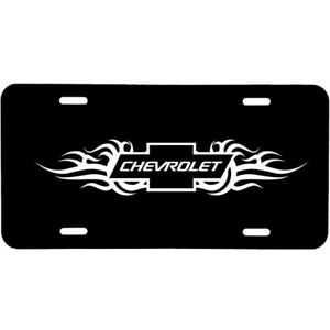 ALUMINUM LICENSE PLATE  Chevy many colors/reflective colors
